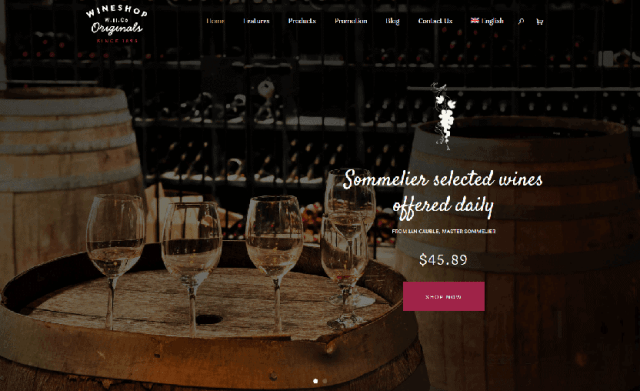 WineShop - woocommerce wine shop