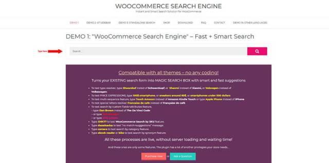woocommerce search box