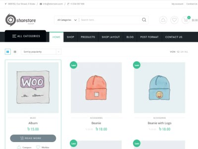ShopStore ( Free ) – WordPress / WooCommerce Shopping Cart Theme