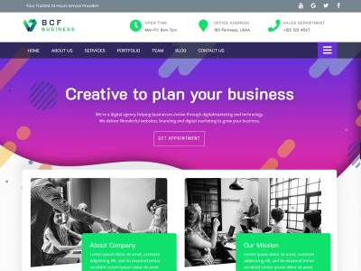 Business Consultant Finder ( BCF Free ) – WordPress theme for Digital Agency, Advertising, Consulting Business