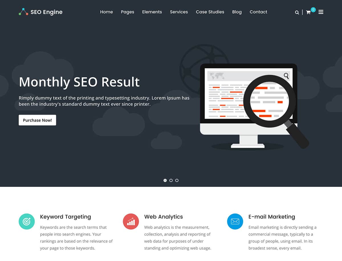 Grab this excellent opportunity and work with us to grow together. Digital Marketing Agency Website Template - Contoh Gambar ...