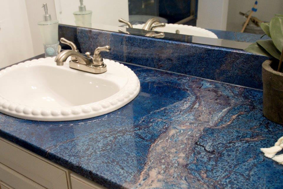Custom Cultured Marble Bathroom Countertop