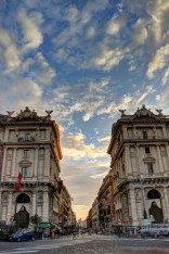 rome sunset - hdr