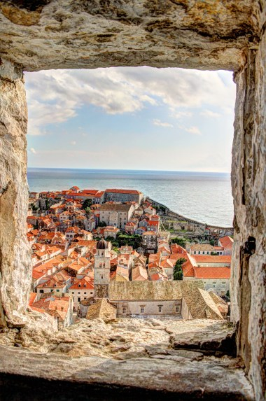 Dubrovnik through the city walls - hdr
