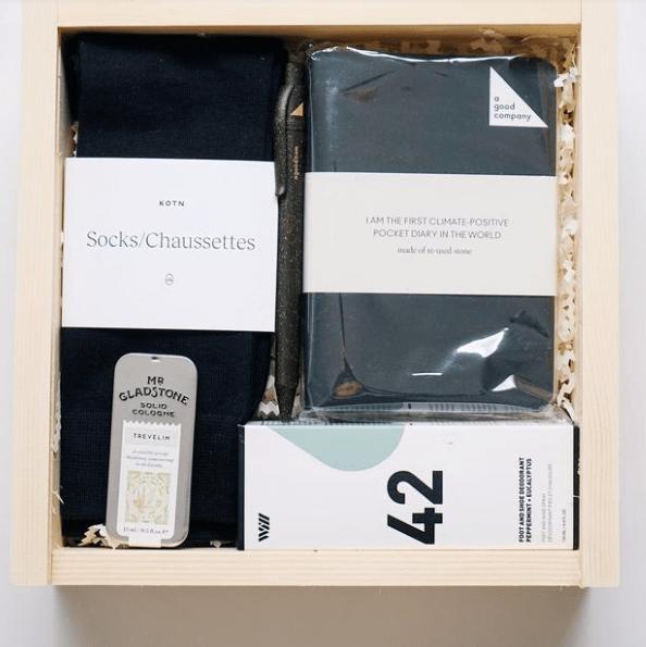 upon a box