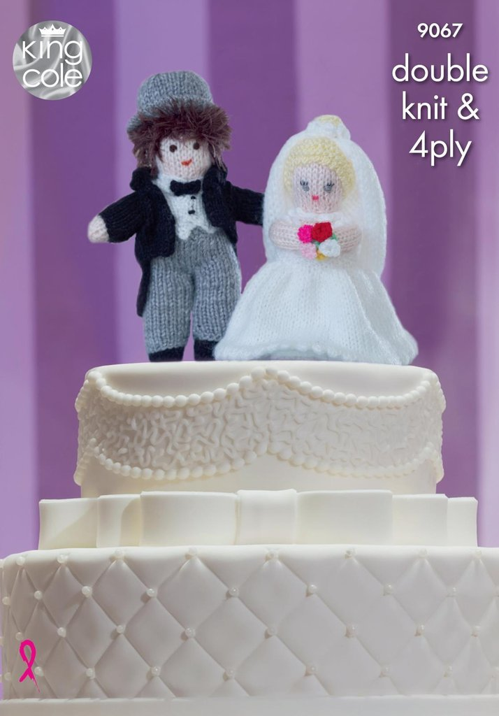 King Cole 9067 Knitting Pattern Bride And Groom Wedding