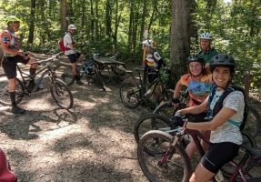 mountain biking group ride