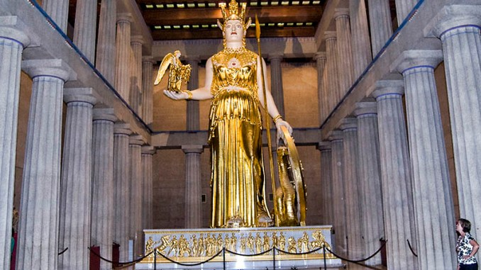 Athena in the Parthenon in Nashville Tennessee. Photo by David Padfield