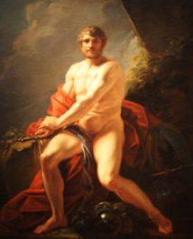 Alexader with-the-arm-of-Achilles- Heinrich-Friedrich-Fuger