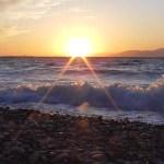 Sunset next to the sea shore – Sunset beach alepochori