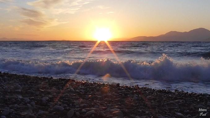 Sunset next to the sea shore - Sunset beach alepochori