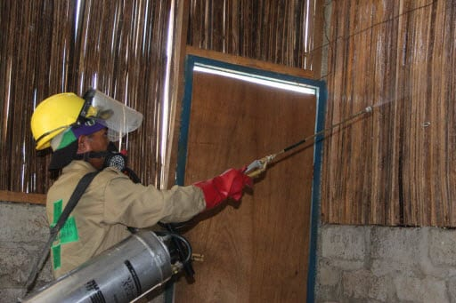 Indoor Residual Spraying for mosquito vector for malaria