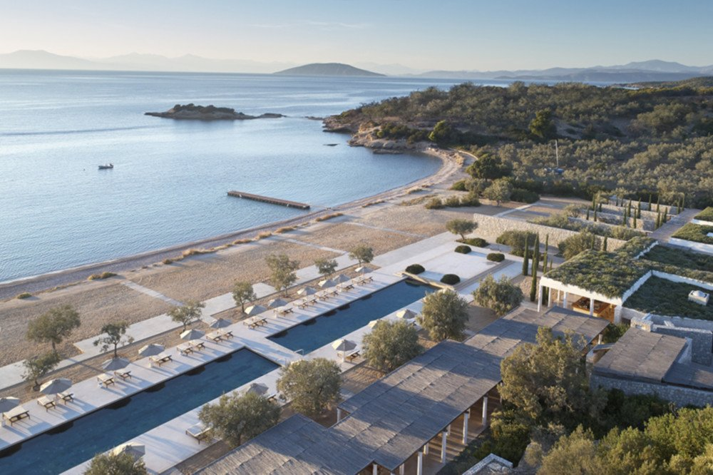 Athens Airport (ATH) transfers to/from Amanzoe with taxi. minivan. minibus. van. limousine. cab. shuttle
