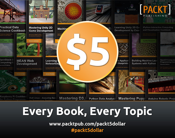 Packt Publishing 5 Dollar Offer