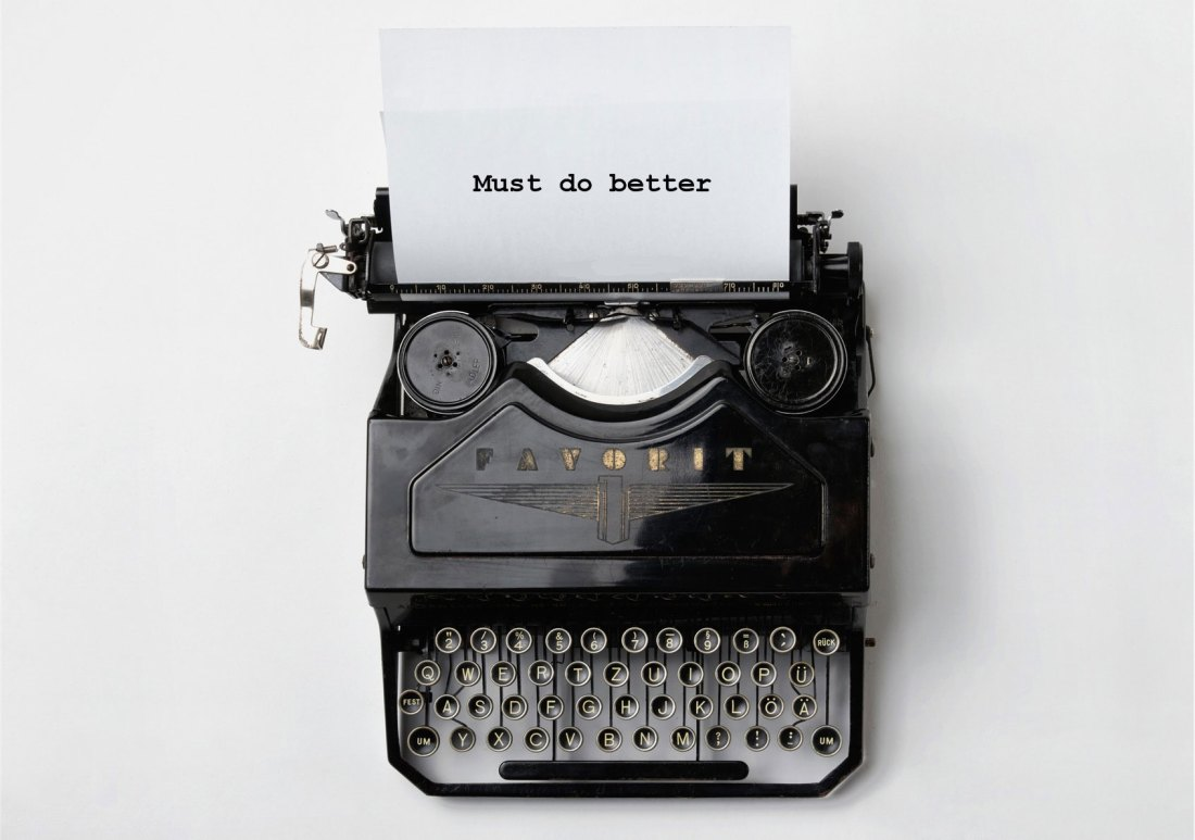 Typewriter -Must do better - Small