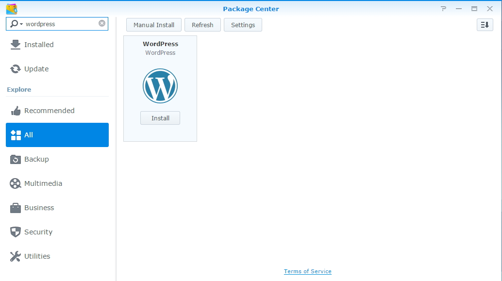 Package Center - WordPress
