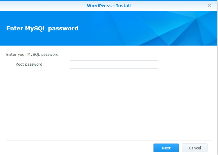 Synology - MySQL Password