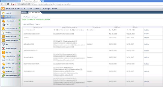 vRO Certificate Import