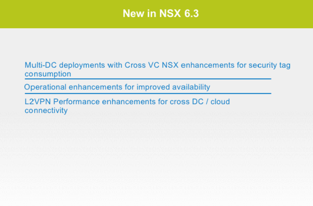 NSX 6.3 - Application Continuity