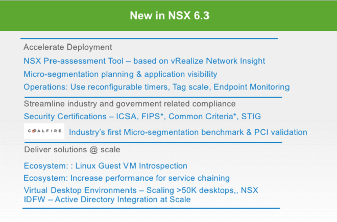 NSX 6.3 - Security