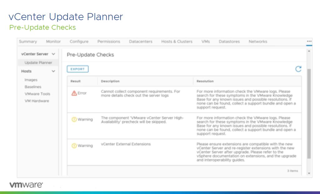 vCenter Update Planner