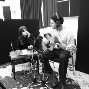 Anouk and Max in the Oxford studios