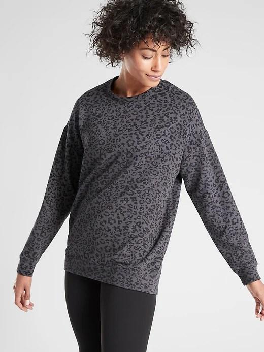 Pure Luxe Leopard Print Sweatshirt