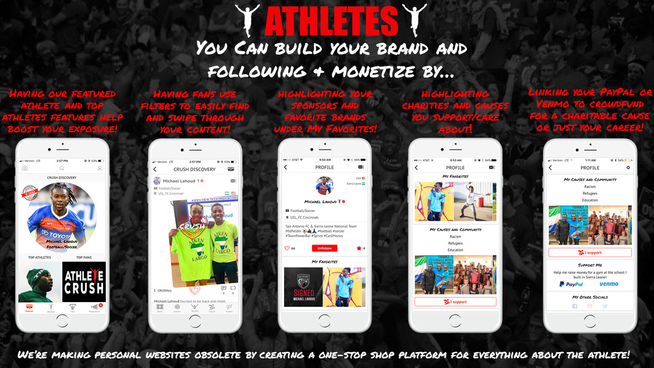 Paralympic athletes mobile app