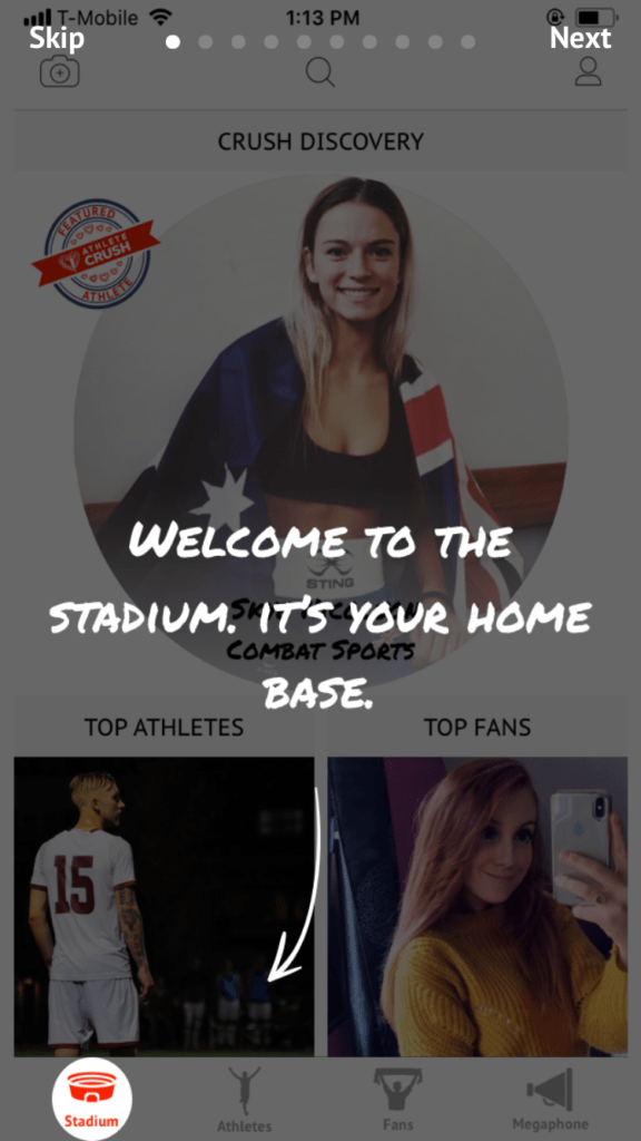 Athlete CRUSH app