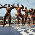 Body builders, training,
