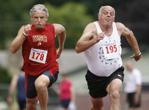 The Senior Games helps to motivate older athletes.