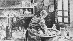 body-awareness: Ignaz Semmelweis washing his hands