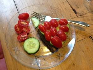 FitOldDog's vegan breakfast.