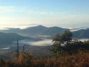 plantar fasciitis case reports: view near our campsite, on the Blue Ridge. By Deb