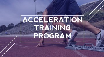cover for acceleration training program post
