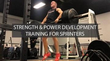 strength power training for sprinters