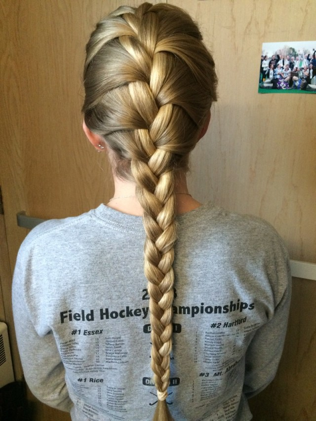 french braid - great hairstyles for playing sports with long