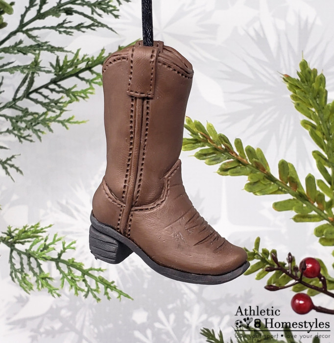 Cowboy Boot Christmas Ornament • Athletic Homestyles