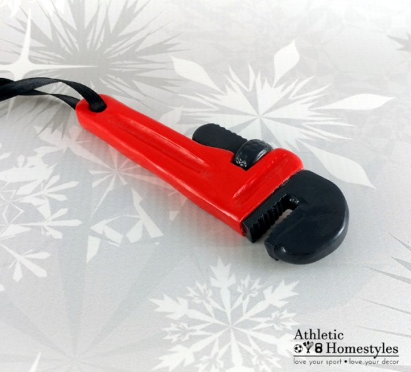 Pipe Wrench Christmas Ornament