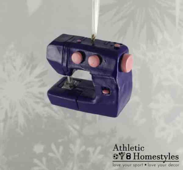 Sewing Machine Christmas Ornament