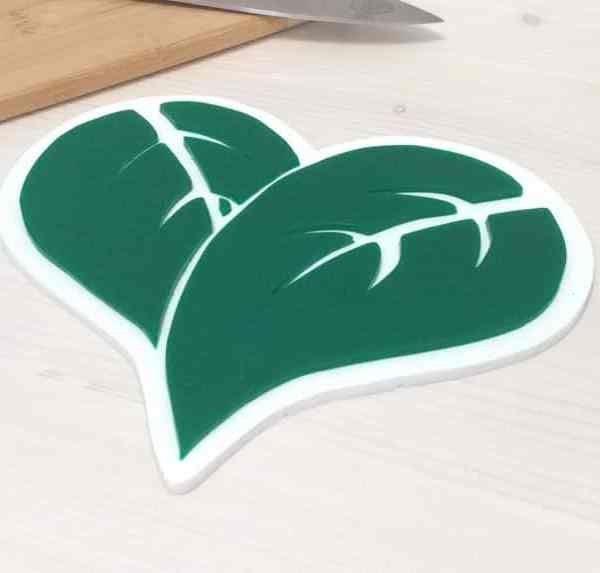 Vegan Vegetarian Whole Foods Plant Based Silicone Trivet Healthy Lifestyle Kitchen Decor