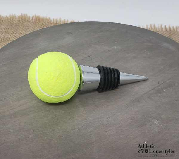 Tennis ball wine stopper court bottle party kitchen decor drinking outdoor sports