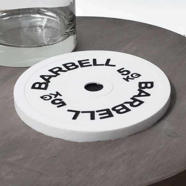 Barbell Silicone Drink Coaster Weight Plate Kitchen Decor Crossfit Strength Sports Powerlifting Weightlifting Hot Pad Trivet