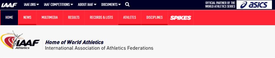 IAAF Webpage