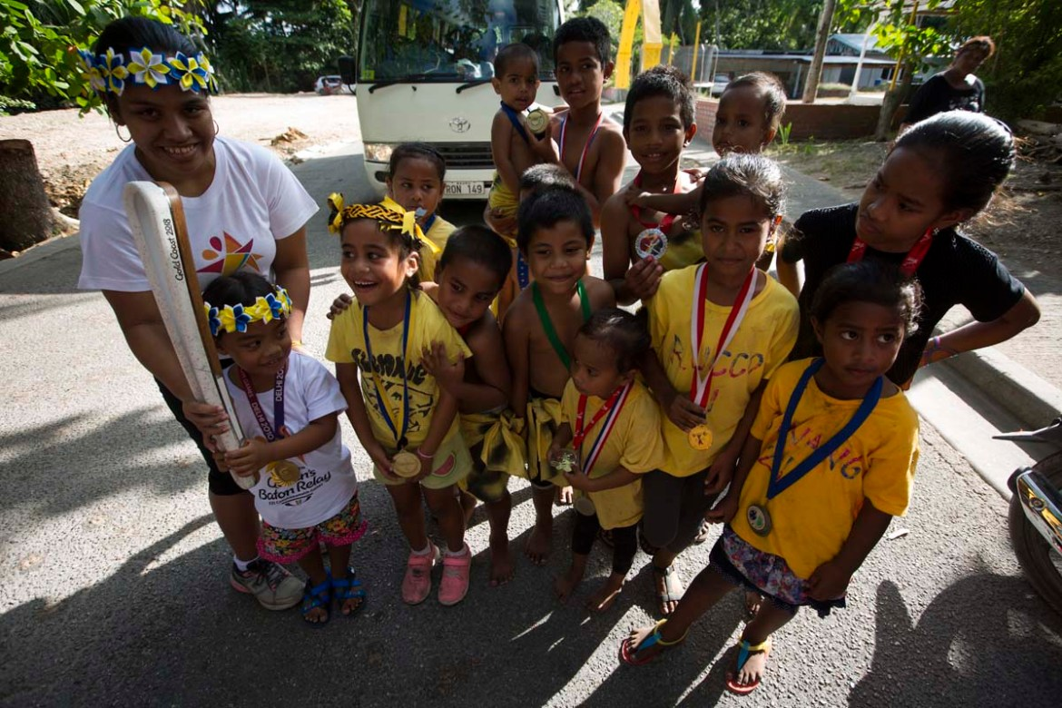 The Queen's Baton Relay spent its one full day in Nauru, where the country staged a full relay of the island on what was declared a public holiday to mark the event.