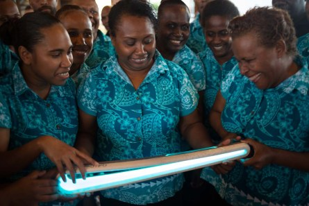 The Queen's Baton was received at an evening reception by Prime Minister Rick Houenipwela, with Australian High Commissioner Roderick Brazier, and the Australian High Commisoners's Governor General's Own Choir, in Honiara, Solomon Islands, on 5 December 2017. This Queen's Baton Relay will engage with all 70 nations and territories of the Commonwealth, over 388 days and cover 230,000km. It will be the longest Relay in Commonwealth Games history, finishing at the Opening Ceremony on the Gold Coast on 4th April 2018.