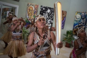 The Queen's Baton was carried by Faeni dancers during a cultural performance, in the Art Gallery, as it relayed through Honiara, Solomon Islands, on 6 December 2017. This Queen's Baton Relay will engage with all 70 nations and territories of the Commonwealth, over 388 days and cover 230,000km. It will be the longest Relay in Commonwealth Games history, finishing at the Opening Ceremony on the Gold Coast on 4th April 2018.