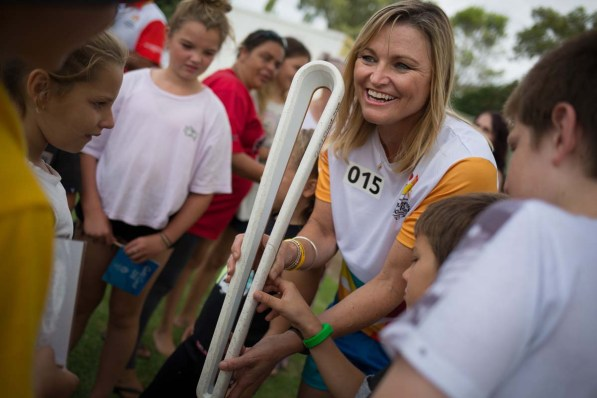 The Queen's Baton, carried by batonbearer. sprinter Melinda Gainsford-Taylor AM, in relay through the streets of Coonabarabran, Australia, on 31 January 2018. From 25 January to 2 March 2018, the Queen's Baton will visit every other state and territory before Queensland. As the Queen's Baton Relay travels the length and breadth of Australia, it will not just pass through, but spend quality time in each community it visits, calling into hundreds of local schools and community celebrations in every state and territory. The Gold Coast 2018 Commonwealth Games (GC2018) Queen's Baton Relay is the longest and most accessible in history, travelling through the Commonwealth for 388 days and 230,000 kilometres. After spending 100 days being carried by approximately 3,800 batonbearers in Australia, the Queen's Baton journey will finish at the GC2018 Opening Ceremony on the Gold Coast on 4 April 2018.