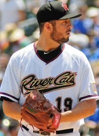 Sacramento River Cats' Pitcher Bruce Billings (6 IP / 5 H / 2 ER / 1 BB / 7 K / Win)