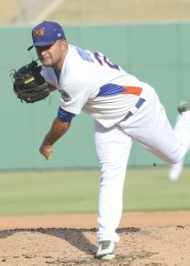 Midland RockHounds Pitcher Carlos Hernandez (6 1/3 IP / 5 H / 0 ER / 1 BB / 6 K / Win)